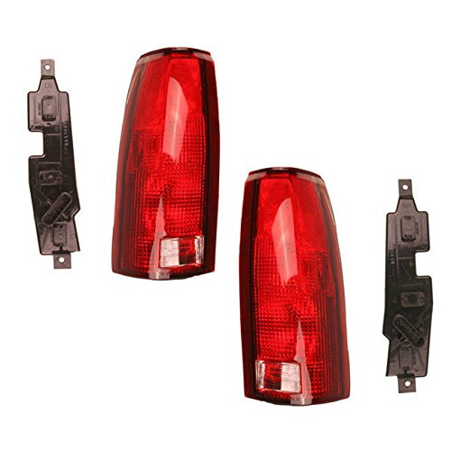 Driver and Passenger Taillights Tail Lamp Units Replacement for Chevrolet Cadillac GMC Pickup Truck SUV 16506355 16506356