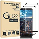 MTBD Galaxy S9 Screen Protector,Full Coverage Tempered Glass[2 Pack][3D Curved] [Anti-Scratch][High Definition] Tempered Glass Screen Protector Suitable for Galaxy S9 (NOT S9 Plus)