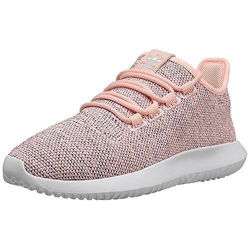 adidas Originals Women's Tubular Shadow W Running Shoe, Haze Coral/Light  Onix/Black, 10 M US