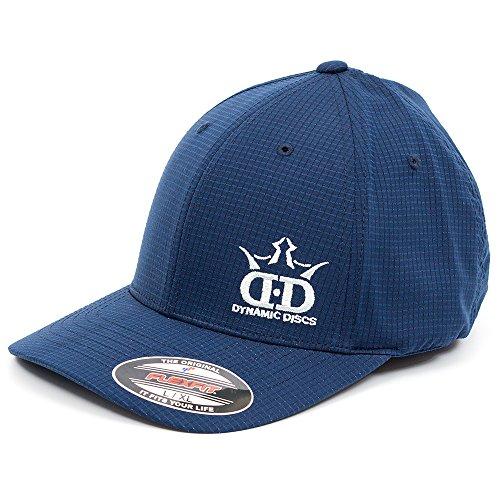 Dynamic Discs DD Logo Hydro Grid FlexFit Disc Golf Hat - Navy Blue - L/XL