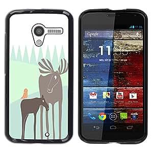 - Moose - - Monedero pared Design Premium cuero del tir¨®n magn¨¦tico delgado del caso de la cubierta pata de ca FOR Motorola Moto X 1ST Gen Funny House