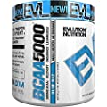 Evlution Nutrition BCAA5000 Powder 5 Grams of Premium BCAAs (Blue Raz)