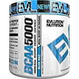 Evlution Nutrition BCAA5000 Powder (30 Servings, Blue Raz) 5 Grams of Premium BCAAs