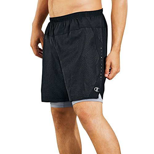 Champion Mens Shorts Compression Black Concrete product image