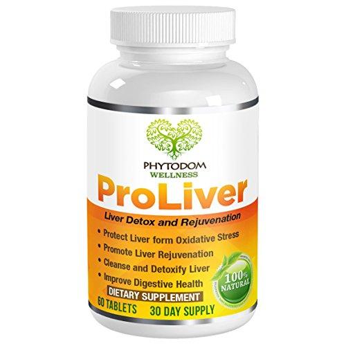 ProLiver: Doctor Recommended Premium Liver Health Formula- #1 Used Liver Detoxification & Rejuvenation Supplement- Milk Thistle, Alpha Lipoic Acid, Quercetin, Selenium, Turmeric- 60 Tablets