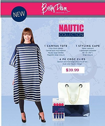 Betty Dain Nautic Collection Bag Deal with Cape, Tote and Croc Clips by Betty Dain -