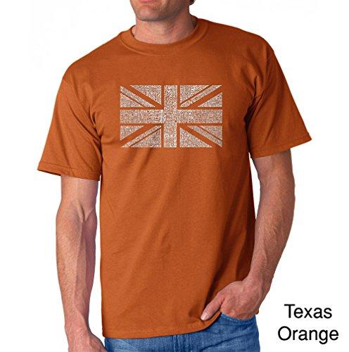 LA Pop Art Men's Word Art T-Shirt - Union (Art Union Jack Flag T-shirt)