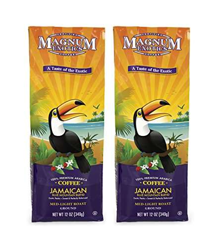 Magnum Coffee Soup of the Exotics Ground Coffee, Jamaican Blue Mountain Blend, 12 Ounce (2 Bags)