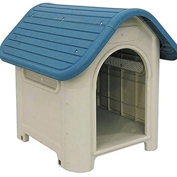 Suinga - Caseta de Plástico para Perros Dog-House Medidas (Frente, Fondo, Alto) 59x75x66 cm. Fabricado en España.: Amazon.es: Jardín