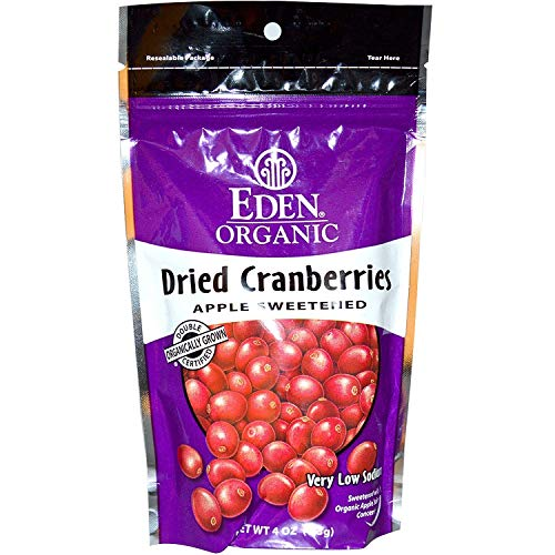 (Eden Foods, Organic Dried Cranberries, 4 oz (113 g) -- 2PC)