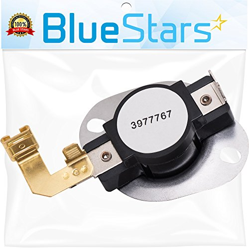 3977767 Dryer Thermostat Replacement part by Blue Stars - Exact Fit for Whirlpool & Kenmore Dryer - Replaces 3399693 WP3977767VP (Thermostat Kenmore)
