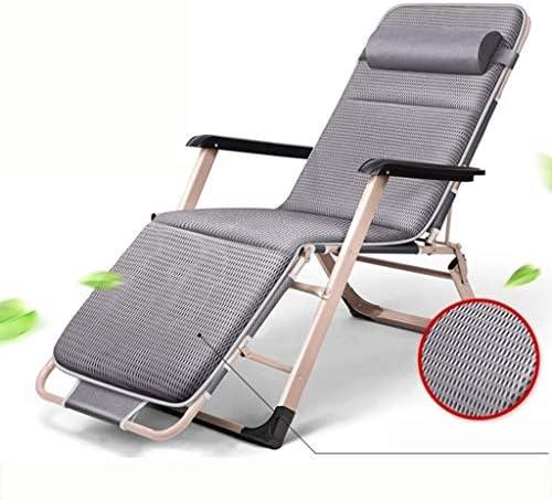 IAIZI ヘッドレストアームレストラウンジチェアゼロ重力の椅子リクライニング昼寝ベッド付き調節可能なラウンジチェア長椅子、椅子の背もたれ屋外パティオガーデンキャンプビーチ (Color : C, Size : 66x117x51cm(26x46x20inch))