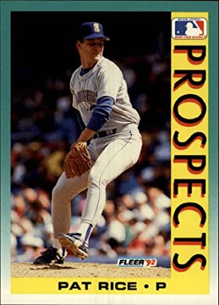 Amazoncom 1992 Fleer Baseball Card 658 Pat Rice