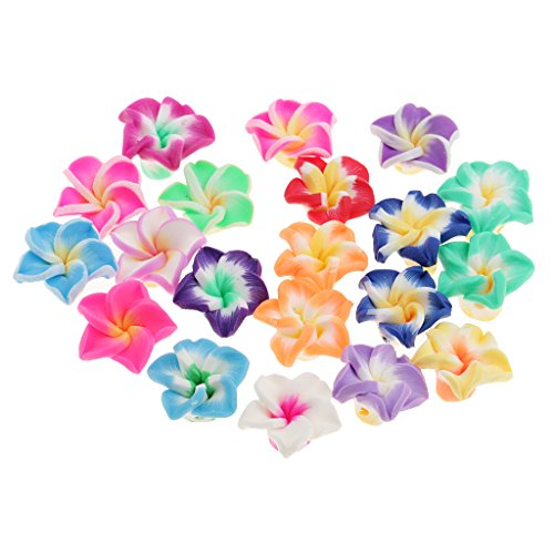 eria Rubra Polymer Flower Clay Beads Spacer Loose Beads for Crafts Decoration (Plumeria Clay)
