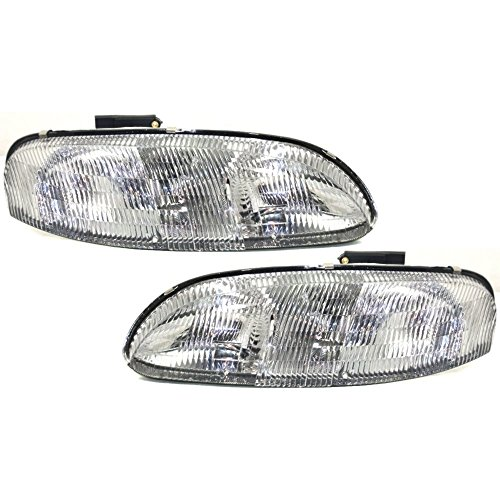 Headlight Set Of 2 For Lumina 95-01 Right and Left Side Composite Assembly Halogen