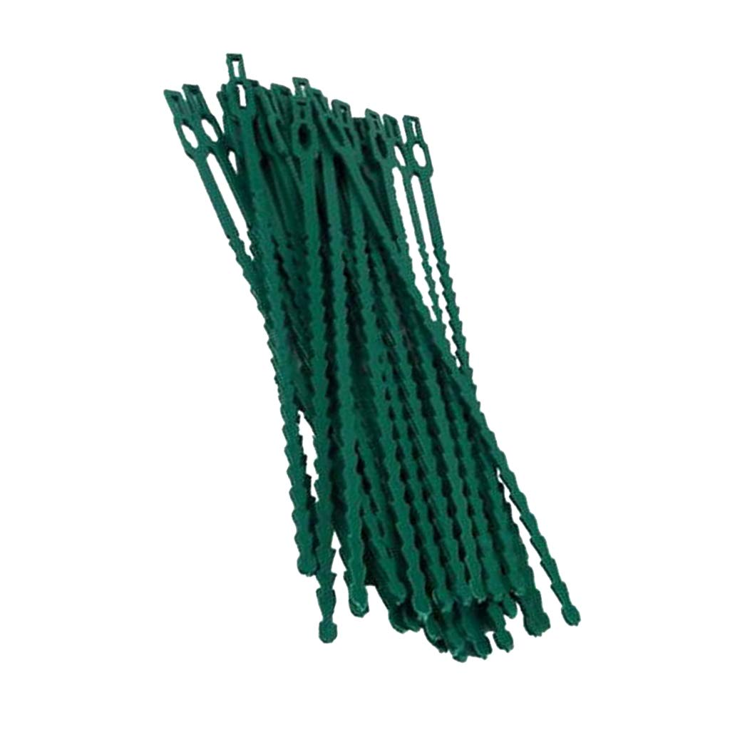 Fityle 13/17/23cm Garden Coated Twist Wire String Tie Plant Support Plastic Strap,30/50pcs - 17CM, as described