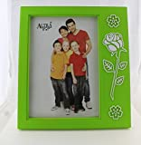 ALLNESS 5 x 7 Picture Photo Frame Family Love Friend Signle Wall and Table mounting with Unique Design (Green)