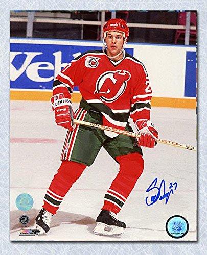 Scott Niedermayer Autographed Photograph - NJ Devils 8x10 Rookie - Autographed NHL Photos