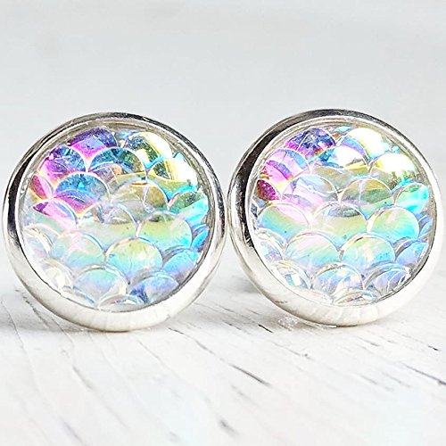 Opal Mermaid Stud Earrings - Hypoallergenic Posts