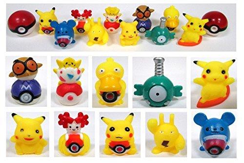 POKEMON 12 Piece MINI Bath Toy Set Featuring 2'' Random Pokemon Characters by Bath Toys