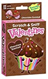 Peaceable Kingdom 28 Card Chocolate Cupcake Scratch & Sniff Valentines with Envelopes
