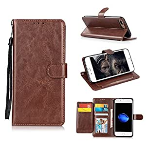 iPhone 8 Plus Case, iPhone 7 Plus Case, Jessica Prenium PU Leather Flip Cover [Stand Feature] Magnetic Closure with Card Slots and Money Slot Case Cover for iPhone 8 Plus (2017)/ iPhone 7 Plus (2016)