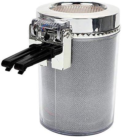 LIZIB ナポレックス 車用 灰皿 クリッ ククリーンアッシュ ドリンクホルダー型 LEDライトが付いている多彩な車のタバコの灰皿のコップのホールダー車の空気出口のタバコの灰皿 (Color Name : Silver)