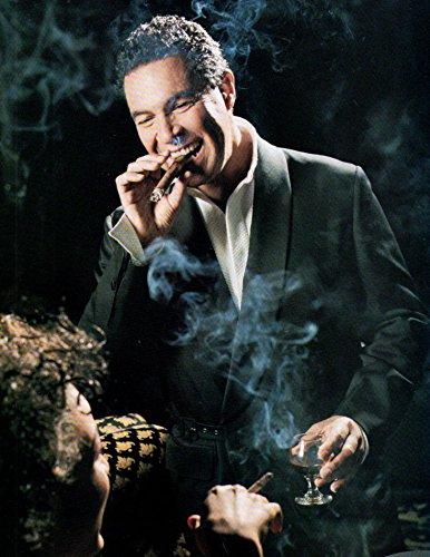 Clint Holmes smoking cigar original clipping magazine photo 1pg 8x10 #Q4218
