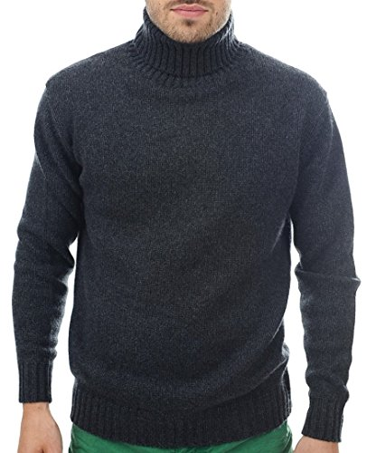 Rollkragen Meliert 10 Pullover Balldiri 100 Cashmere L fädig Kaschmir Anthraziet tq7gO4