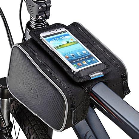 Bolsa para marco de bicicleta, soporte para teléfono de bicicleta ...