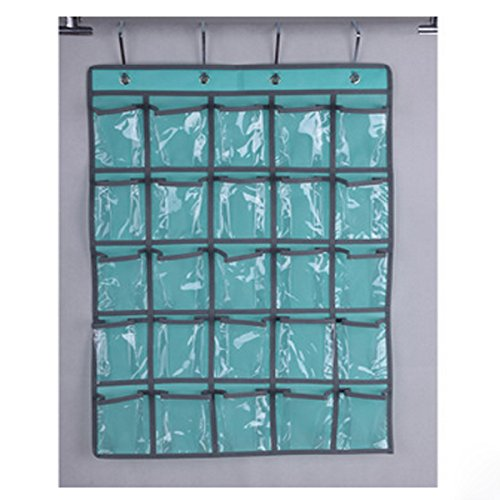 Spacehome@ 25-Pocket Classroom Pocket Chart Cellphone Pocket Chart Holder Wall Door Hanging Organizer CPC-4 ()