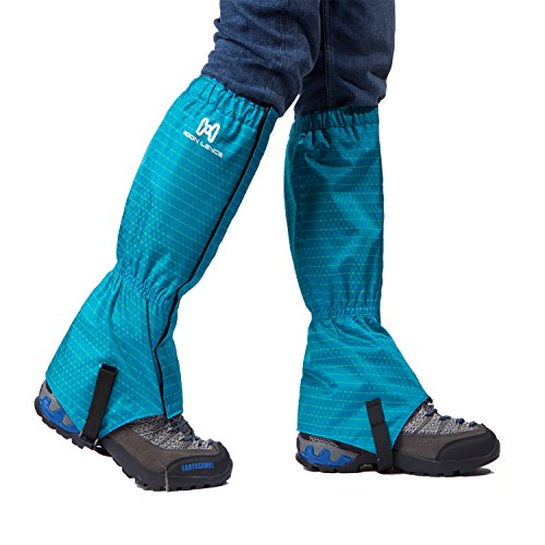 Moon Lence Waterproof Compact Climbing Leg Gaiters, Breathable Outdoor Hiking Leggings Nylon Cloth Dust-proof Gaiters Snowshoeing For Walking Climbing Hunting Backpacking