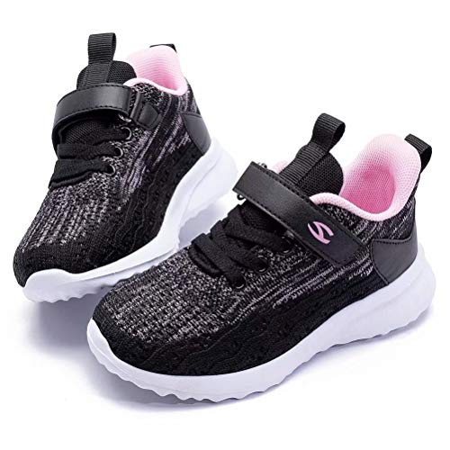BODATU Kids Boys Girls Running Shoes Comfortable Fashion Light Weight Slip on Cushion