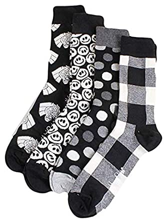 per comprare ordine migliori scarpe da ginnastica Happy Socks Black&White Gift Box US Socks Size 9-11 (US W Shoe ...