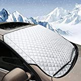 CHRINSTYLE Car Windshield Cover Thick Windscreen Snow Cover Waterproof Snow Ice Frost Sun UV Dust Water Resistent