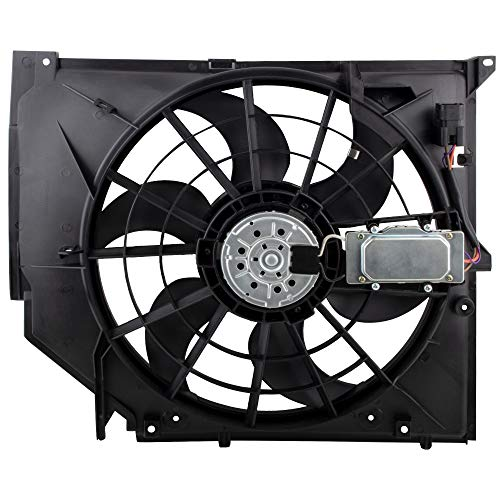BOXI Radiator Cooling Fan Assembly For 1999-2005 BMW E46 3-Series 320i 323Ci 323i 325Ci 325i 325xi 328Ci 328i 330Ci 330i 330xi OE# 17117561757 621-199