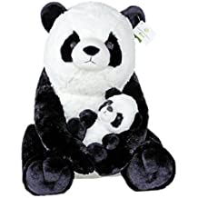 "Giant Pandas Plush Stuffed Animals - 18"" Teddy Bear with Baby Panda - Kids Toys - Gift"