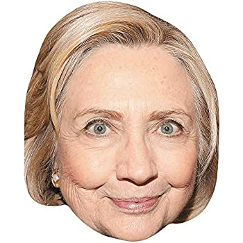 Hillary Clinton Card Face Celebrity Mask Smile