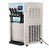 Happybuy 1200W Frozen Soft 110V Commercial Ice Cream Machine 3 Flavor 4.75Gal/H Yogurt Maker Perfect for Coffee Shop or Family Party