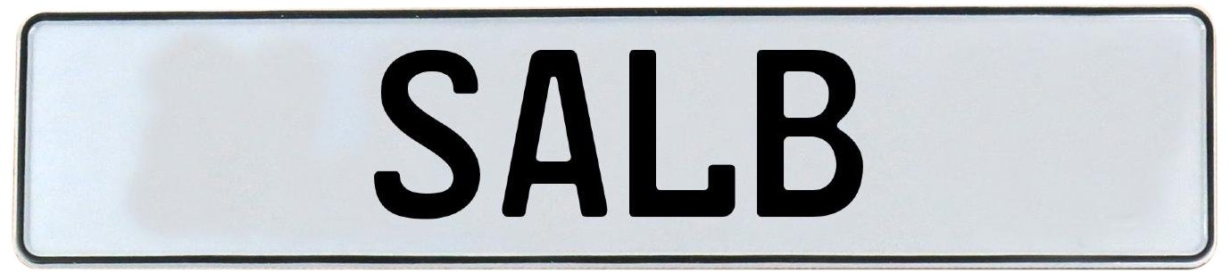 SALB Vintage Parts 748389 White Stamped Aluminum Street Sign Mancave Wall Art