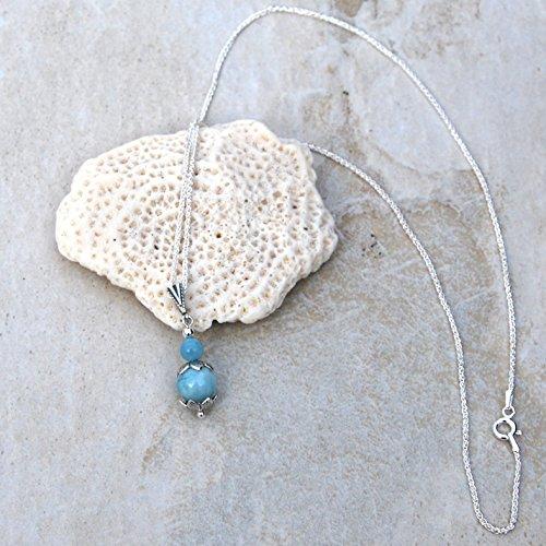 (Larimar & Sterling Silver Pendant Necklace)