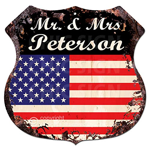 Amazon.com: América Bandera Mr. & Mrs Peterson cartel de ...