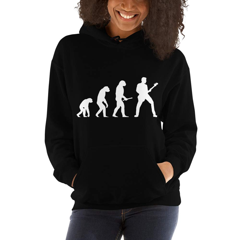 mikabel Guitar Player Evolution of Man Funny Unisex Hooded Sweatshirt