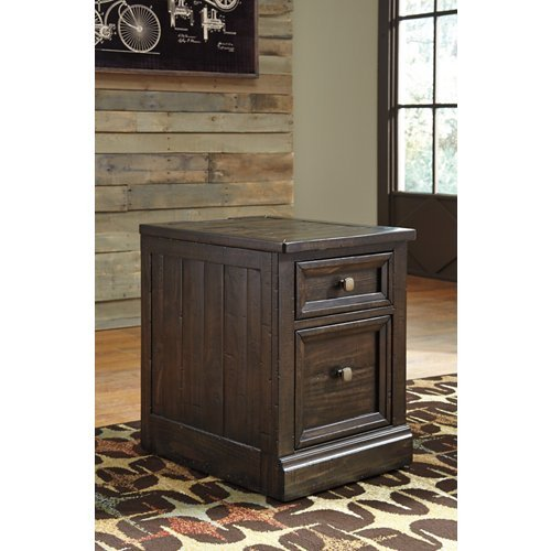 Townser File Cabinet Grayish Brown/Traditional (Pewter Pulls Pine)