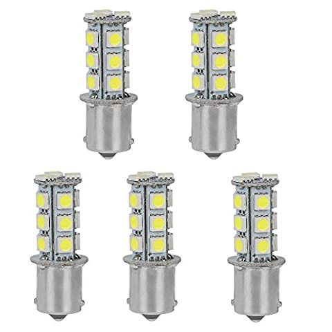 HERO-LED 1156-18T-CW Marine/Boat/RV LED Light Replacement Bulb, #1156, Cool White, 5-Pack (1156 Led Bulb Replacement)
