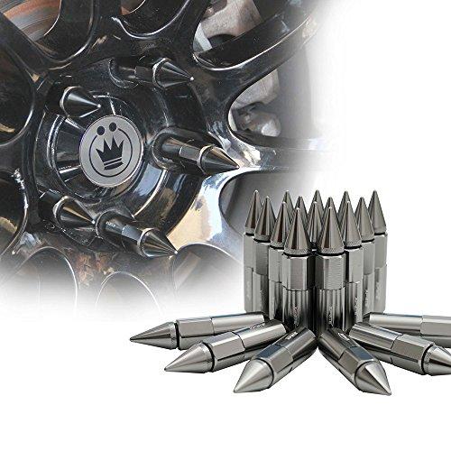 xprite Gris Metálico Aluminio montado 90mm espiga Extended Nut Refit Rueda Lug Nuts/Tire Tornillo M12x 1,5