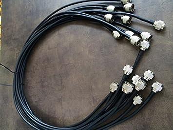 Cable de empalme coaxial profesional Conectores N 1 metro