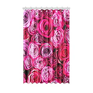 Window Curtains Pink Red Roses Flower Stylish Bedroom Curtains Childrenu0027s  Room Living Room Blackout Curtains Healthy