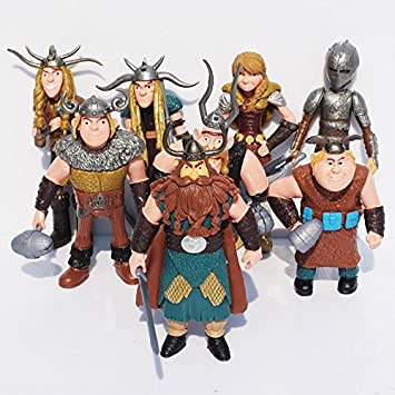 Amazon adb inc how to train your dragon hiccup astrid 48 adb inc how to train your dragon hiccup astrid 48quot toys for children 8pcs ccuart Choice Image