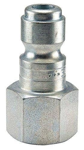 Parker 3C-E Coupler Plug, Steel, FNPT, 3/8 In. Pipe